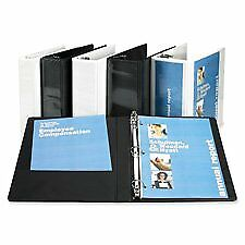 Sparco Products Slant Ring View Binder 4 capacity 11 x8 1 2 White