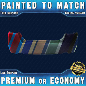 New Painted To Match Rear Bumper Cover Replacement For 2013 2015 Nissan Altima