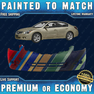 New Painted To Match Front Bumper Replacement For 2010 2012 Nissan Altima Sedan