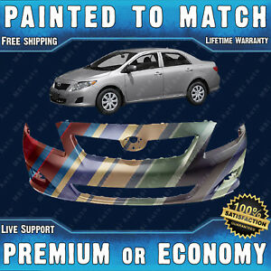 New Painted To Match Front Bumper Cover Fascia For 2009 2010 Toyota Corolla