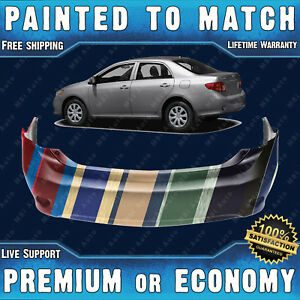 New Painted To Match Rear Bumper Cover Replacement For 2009 2010 Toyota Corolla