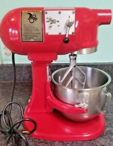 Hobart N50 5 Qt Commercial Mixer Cherry Red With 5 Quart Bowl And Beater Rare
