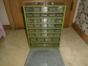 Vintage Metal Storage Bolt Bin Cabinet Compartment Drawer Nuts Fasteners Sc