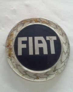 Fiat 124 Spider Hood Deck Badge Custom Emblem Blue 141