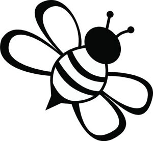 Car Window Decal Truck Outdoor Sticker Cute Simple Bee