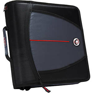 New Case it Mighty Zip Tab 3 Zipper Binder With Tabbed Files D 146 black