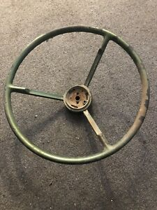 1956 Ford Thunderbird Ranchero Fairlane Green Steering Wheel Used Original Ford