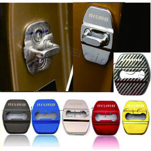 4pcs Nismo Glossy Color Car Door Lock Protective Cover Case Badge Decal Sticker