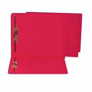 Sjps13643 Colored Reinforced End Tab File Folders With Fasteners