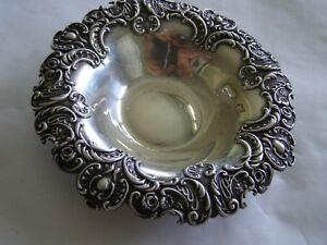 Vintage Repousse Sterling Frank Smith Co Candy Dish 1237