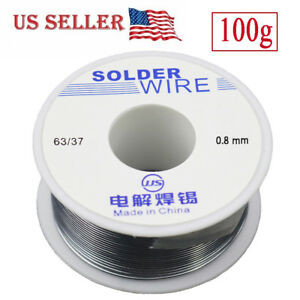 63 37 Tin Lead Rosin Core Flux Solder Wire For Electrical Solderding 0 8mm 100g