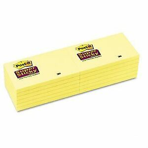 Post It Super Sticky Notes Canary Yellow 76 X 127mm Pack Of 6 Pads