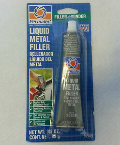Permatex 25909 Liquid Metal Filler 3 5oz Tube pack