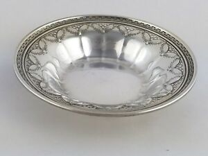Sterling Silver Compote Bowl Candy Dish Towle 623 Swags Lattice Key 94 Gram 6