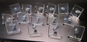 Set Of 15 Vintage Clear Acrylic Lucite Drawer Cabinet Pulls Mid Century