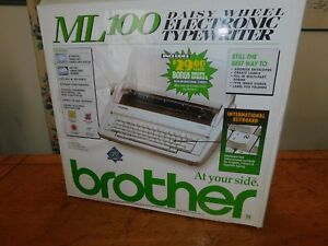 Make An Offer On This New Brother Ml100 Daisy Wheel Electronic Typewriter j10