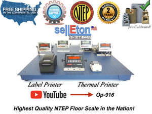 New Ntep Legal Industrial Warehouse 48 X 48 4 X 4 Floor Scale 10 000 X 2 Lb