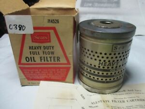 Sears Drop In Oil Filter 4526 Replacement Element Fits Many Vintage Mopar