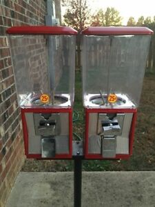 Northwestern Double Head Bulk Vending Gumball Capsule Candy Machine