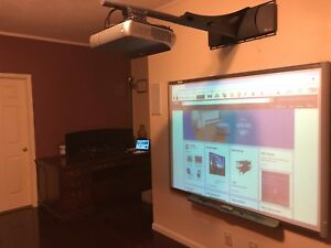 Interactive Smart Board Sb660 And Promethean Prm 30 Short Throw Projector