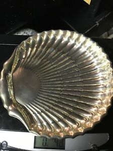 Reduced Sterling Silver Scallop Shell Candy Dish 4 8 Ounces 6 5 X 6 5