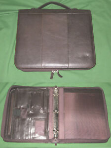 8 5x11 1 25 Brown Leather Pella Studios Planner Binder Franklin Covey Monarch
