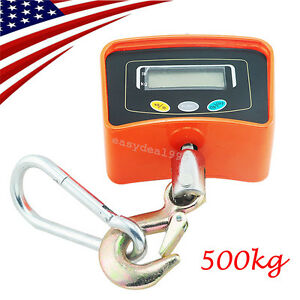 Usa Digital Crane Scale 500 Kg 1100 Lbs Heavy Duty Industrial Hanging Scale Ce