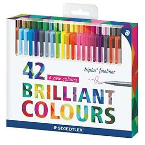 Staedtler Triplus Fineliner 334 c42 assorted Colour Set Of 42 Pens With Ergonomi