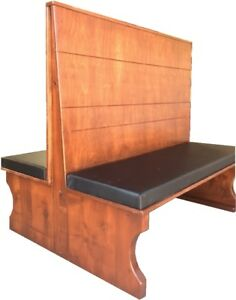 Parkwood Restaurant Booth Double Pwkap3500d 48 42 Wood Seat back