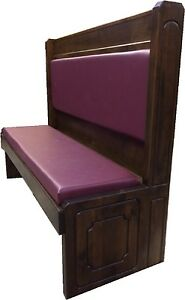 Solid Wood Restaurant Booth Single 5600s ps 60 42 Factory Direct