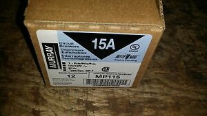 Qty 12 15 Amp Murray Single Pole Breakers 1 Pole Mp115