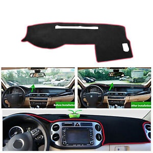 Dashmat For 2005 2015 Toyota Tacoma Dash Cover Dashboard Cover Mat Black W Red