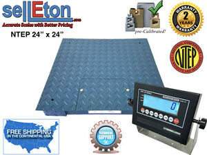 New Ntep legal Industrial Warehouse 24 X 24 2 X 2 Floor Scale 5000 X 1 Lb