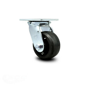 Scc 4 Rubber On Cast Iron Wheel Swivel Caster 400 Lbs caster