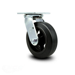 Scc 6 Rubber On Cast Iron Wheel Swivel Caster 450 Lbs caster