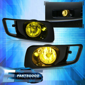 1999 2000 Honda Civic Jdm Sedan Coupe Front Bumper Yellow Fog Lights Amber Pair