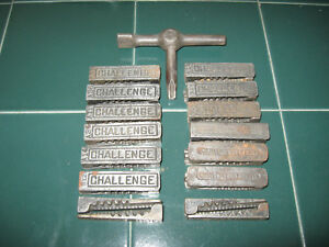 Letterpress Lock Up 14 Pairs Wedge Quoins And Key Challenge Hemple Lot