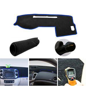 Dashmat For Toyota Tacoma 2005 2015 Black W Blue Dash Cover Dashboard Cover Mat