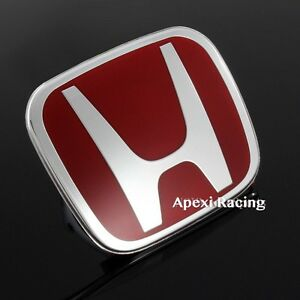 Apexi New Red Front Emblem Badge 123mm X 100mm For Accord Crv Civic Fit Hrv