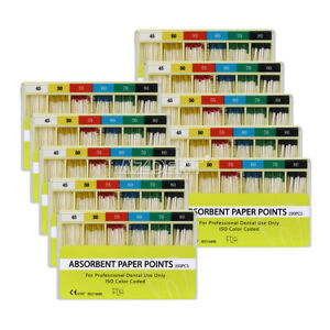 Dental 45 80 Absorbent Paper Points 0 02 Taper 20box For Root Endodontics Use