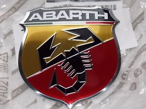 Fiat 500 Abarth Hood Bonnet Badge Emblem 735496478 Genuine Original