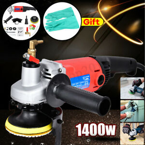 1400w Concrete Marble Granite Wet Polisher Grinder Machine diamond Polishing Pad