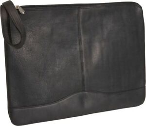 David King Leather Envelope Portfolio In Black
