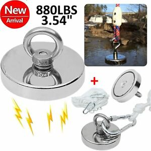 Fishing Magnet Neodymium Super Strong Retrieving Treasure Hunt 880lbs Pull Force