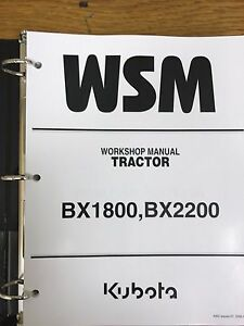 Kubota Bx1800 Bx2200 Bx 1800 2200 Tractor Service Repair Manual
