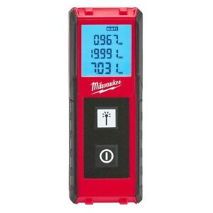 Milwaukee 65 foot Measuring Laser Distance Meter Impact Resistant 48 22 9801 New
