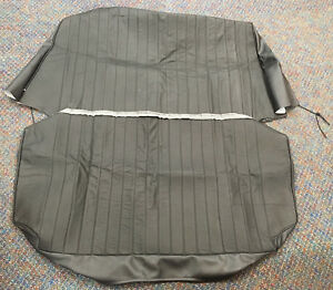 New Vw Rear Leather Seat Cover Black 1965 1979 Volkswagen Beetle Convertible