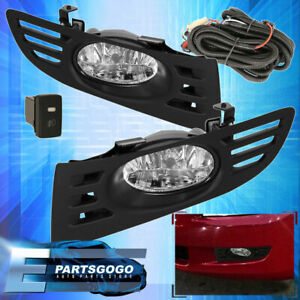 For 2003 2005 Honda Accord Coupe 2 Door Jdm Fog Light Clear Lamp Assembly Kit