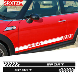 Sticker Decal For Classic Mini Cooper Side Door Stripes Left Right Chrome Flares