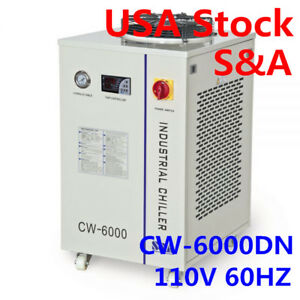 S a Cw 6000dn Industrial Water Chiller For 100w Solid state Laser 22kw Cnc 110v